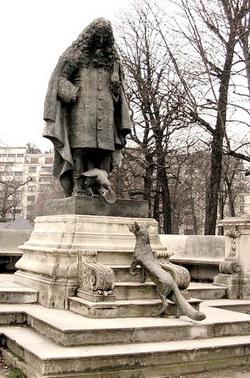 Памятник Лафонтену в Париже